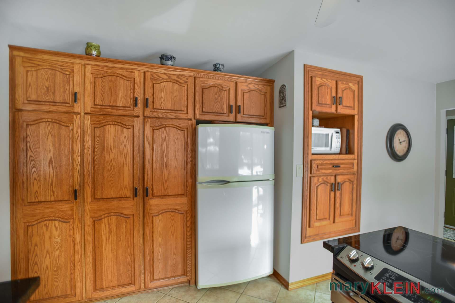 Oak pantry